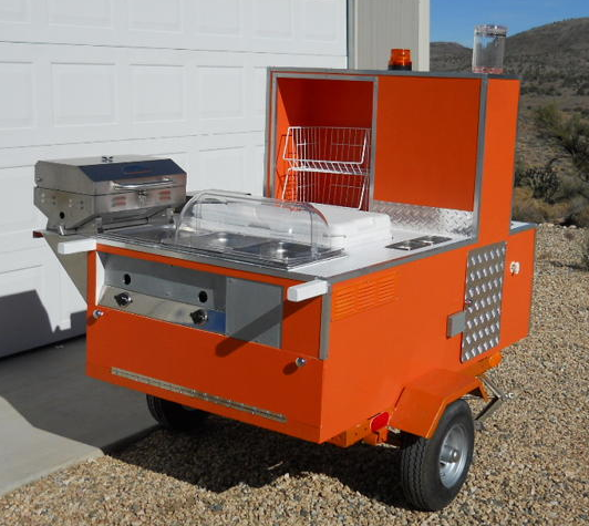 Home made hot dog cart