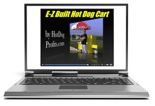 E-Z Built Hot Dog Cart Video and Plans Online
